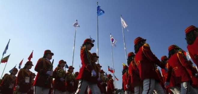 Los Juegos Olímpicos de Inviernos buscan aliviar las tensiones entre las dos Coreas. Foto: AFP