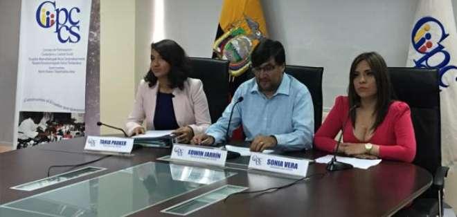 Miembros del CPCCS reaccionan ante la resolución de la CorteIDH. Foto: Archivo