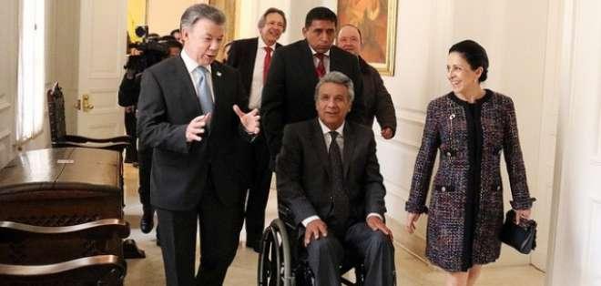 Lenín Moreno, se reunirá con su homólogo colombiano, Juan Manuel Santos, durante el VI Gabinete Binacional Ecuador-Colombia. Foto: Archivo.