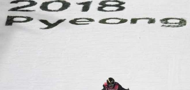 La final de Snowboard y las pruebas de esquí alpino fueron aplazadas. Foto: AFP