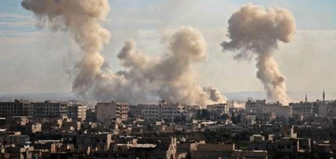 Los ataques dejaron 450 heridos y son parte de la ofensiva del régimen. Foto: AFP