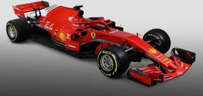 El nuevo Ferrari incorpora el 'halo' y la nueva protección del 'cockpit' obligatoria en 2018. Foto: AFP