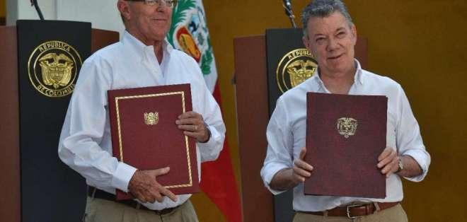 CARTAGENA, Colombia.- Los presidentes de Colombia y Perú han tenido enfrentamientos con Maduro. Foto: Colombia Presidencia.