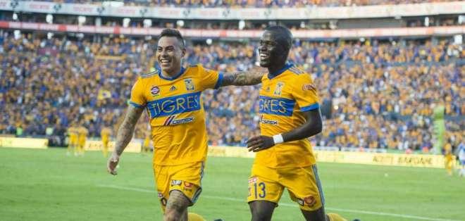 Enner Valencia marcó un doblete en la victoria de tigres sobre Herediano por Concachampions.