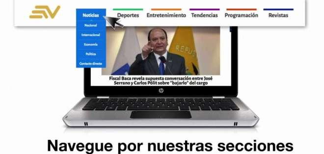 Entérese del contenido de Ecuavisa y cómo ubicarlo en el sitio de web. Foto: Captura Video.
