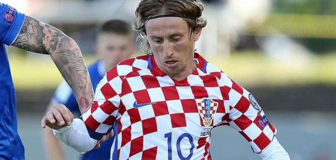 El croata Luka Modric es acusado en su país de presunto falso testimonio.
