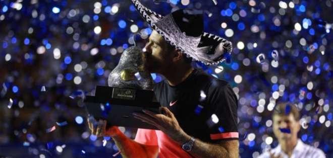 El argentino Juan Martín Del Potro ganó por primera vez el Abierto de Acapulco.