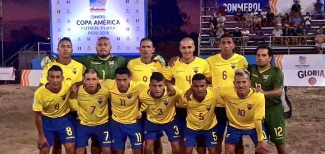 La 'Tricolor' superó 4-3 en penales a los 'incas' tras empatar 4-4 en tiempo reglamentario. Foto: Tomada de @FEFecuador
