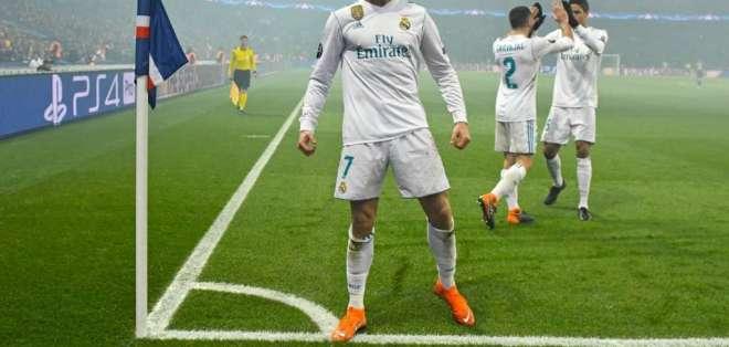 Cristiano Ronaldo marcó en el Parque de los Príncipes y puso al Madrid en cuartos de final.