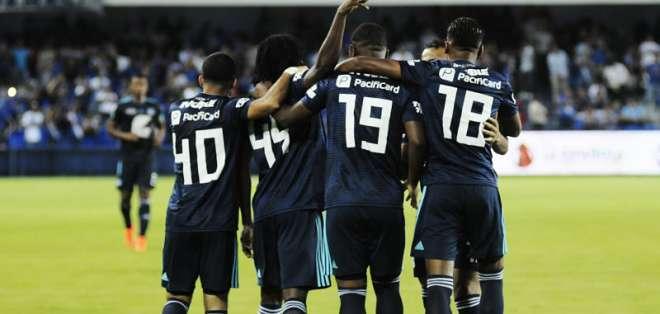 Los 'millonarios' golearon 3-0 a Guayaquil City y son líderes del campeonato ecuatoriano. Foto: API