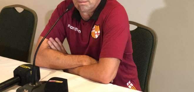 El DT de Barcelona confía en sus jugadores para vencer a General Díaz y avanzar en la Copa Sudamericana. Foto: barcelonasc.com