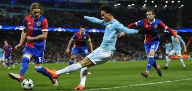 Manchester City cayó de local ante Basilea pero clasificó a cuartos de final de la Champions.