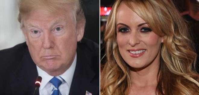 La actriz porno Stormy Daniels señaló que sostuvo una relación con el presidente de EE.UU., Donald Trump, en 2006. Foto: GETTY
