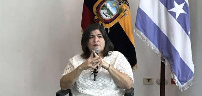 GUAYAQUIL, Ecuador.- María Elsa Viteri dio sus primeras declaraciones como ministra de Economía. Foto: Ecuavisa