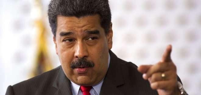 """""""Me da risa. Parece un programa cómico. Eso es Colombia..."""", dijo Nicolás Maduro. Foto: AP"""
