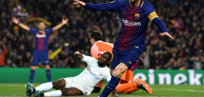 Messi llegó a los 100 goles en Champions League gracias al doblete marcado al Chelsea.