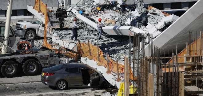9 heridos fueron trasladados al hospital, según los bomberos. Foto: AFP