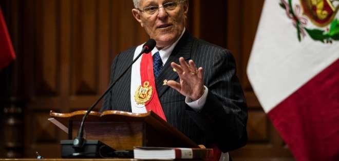 El presidente peruano es investigado por un supuesto soborno de 20 millones de dólares que habría pagado Odebrecht. Foto: AFP