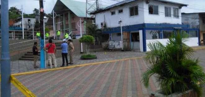 Borbón está bajo vigilancia luego de explosión registrada. Foto: MAE Esmeraldas