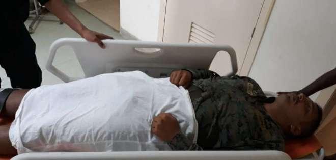 Tres militares resultaron heridos en nuevo enfrentamiento en la frontera norte. Foto: Secom