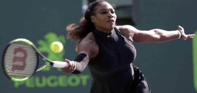 La estadounidense Serena Williams no pudo en su debut en el torneo de Miami y quedó eliminada.