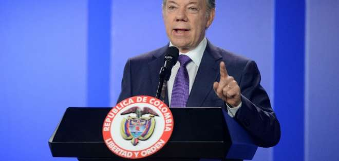 Según Santos, Ecuador cuenta con Colombia para la crisis en la frontera. Foto: AFP
