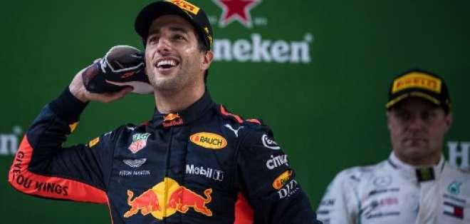 El piloto australiano escaló varias posiciones dentro de la carrera para ganar. Foto: Johannes EISELE / AFP