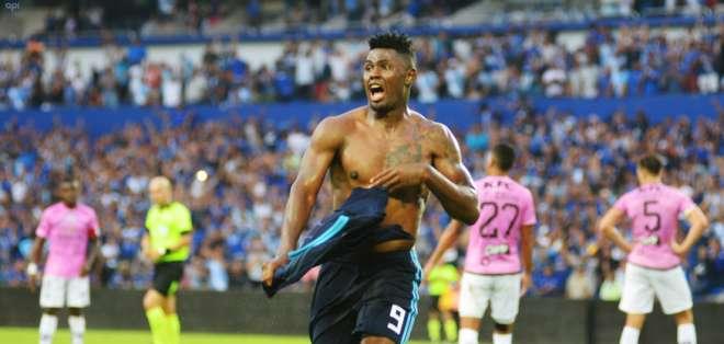 Marlon De Jesús hizo el gol de la victoria tras entrar en lugar del lesionado Bryan Angulo. Foto: API