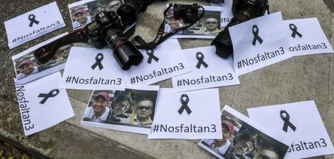 Frente Oliver Sinisterra justifica su decisión de no entregar los cuerpos ante la falta de seguridad. Foto: AFP