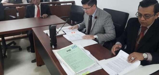 También son llamados a juicio Álex Bravo, Diego Tapia y Jorge Vivar. Foto: Twitter Fiscalía