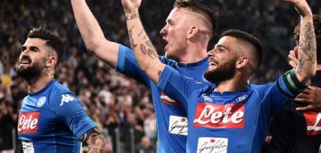 El Napoli quedó a un punto de la 'Juve'. Foto: MARCO BERTORELLO / AFP