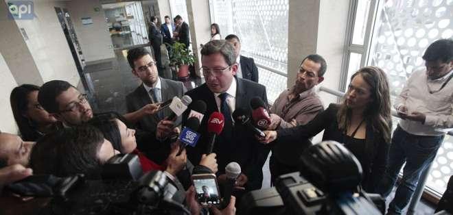 Según ministro del Interior, Katty Velasco y Óscar Villacís, habrían sido secuestrados en Colombia. Foto: API