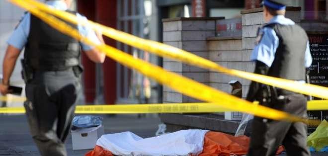 Policía de Canadá busca determinar el móvil de atropellamiento que dejó 10 muertos. Foto: AFP