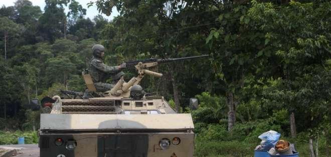 Las autoridades colombianas y ecuatorianas lanzaron una feroz ofensiva en la frontera. Foto: Archivo