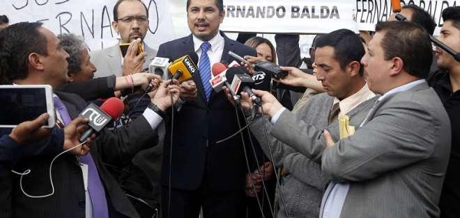 La Fiscalía reabrió en enero de 2018 el caso del presunto secuestro al exasambleísta Balda. Foto: Archivo API.