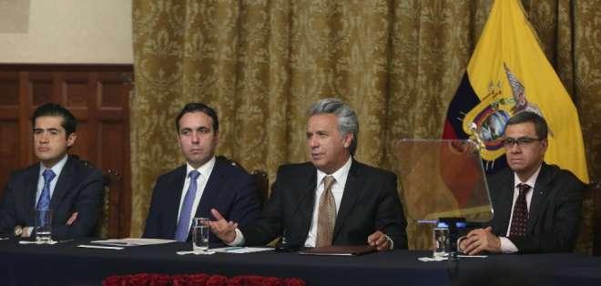 El acto fue encabezado por el presidente de la República, Lenín Moreno. Foto: Secom
