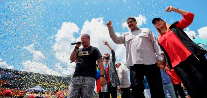 Maduro es favorito aunque 75% de los venezolanos rechaza su gestión. Foto: AFP