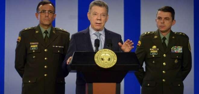 """Juan Manuel Santos, rechazó la denunció y aseveró que estos serán los comicios """"más transparentes"""" de Colombia. Foto: AFP"""
