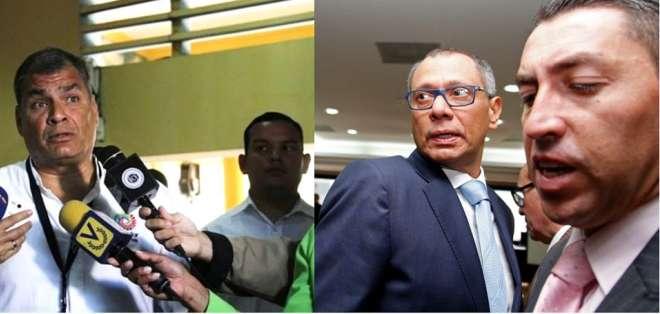 Medida también contempla retiro de seguridad a exvicepresidente Glas, en prisión en Quito. Foto: Collage Ecuavisa