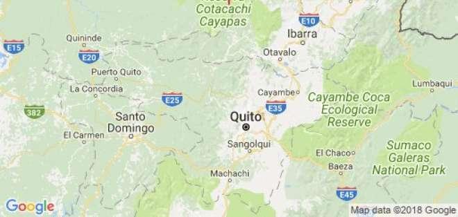 El epicentro del movimiento telúrico se ubicó a 57.28 km de Cotacachi, a 3.36 km de profundidad.  Foto: Instituto Geofísico