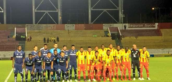 Tanto la Católica como Aucas se presentaron al partido del 21 de mayo pese a que los árbitros no lo hicieron. Foto: @UcatolicaEC
