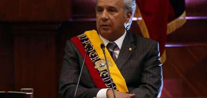ECUADOR.- En su informe, el presidente dijo que mantuvo 444 diálogos en un año y seguirá dialogando. Foto: API