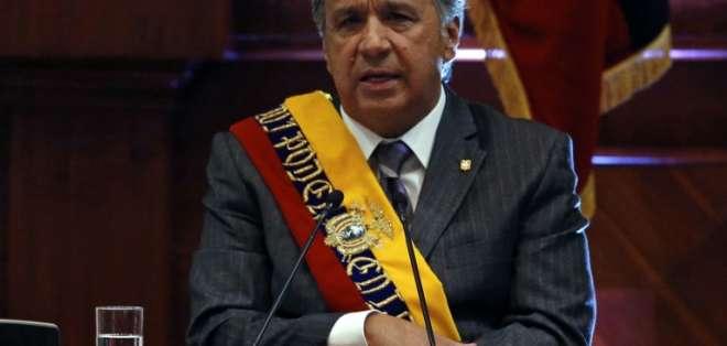 ECUADOR.- En su informe, el presidente dijo que mantuvo 444 diálogos en un año y seguirá dialogando. Foto: AFP