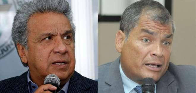 ECUADOR.- Desde el cambio de mando hasta la crisis en la frontera han confrontado a los dos líderes. Collage: Ecuavisa