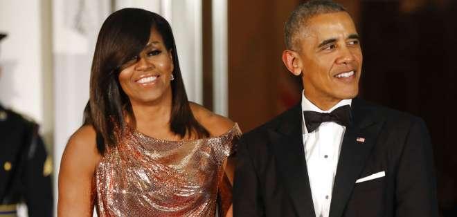 Los Obama en su etapa como residentes de la Casa Blanca. Foto: AP.
