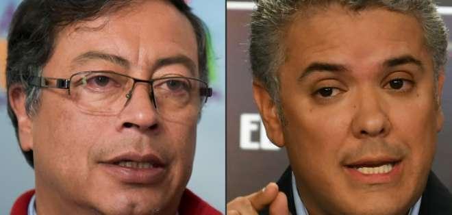 El derechista Duque vence en presidenciales de Colombia que irán a balotaje. Foto: AFP