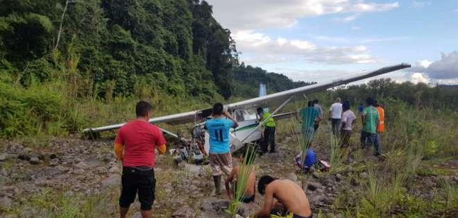 La aeronave cubría la ruta Macas – Uchinchisuant y transportaba carga. Foto: ECU 911