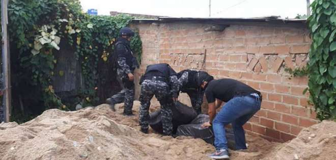 La Policía señala que el inmueble allanado está ubicado en un sitio estratégico. Foto: Twitter