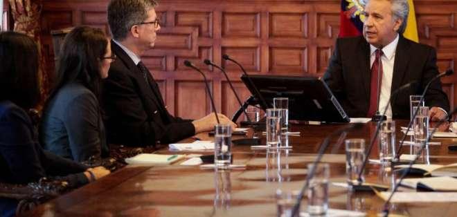 Libertad de expresión fue tema central en reunión entre Moreno y representante de HRW. Foto: API