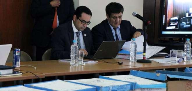 La diligencia inició el lunes con los alegatos del fiscal Paúl Pérez Reina. Foto: Fiscalía